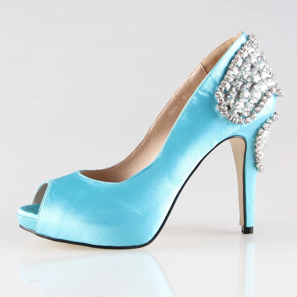 Aqua Blue Heels
