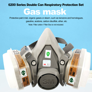Image 5 - 3M 6200 Half Face Gas Mask Respirator Organic Gas Protection Dust Mask Anti Haze Painting Spraying Industrial Dust Proof Protect