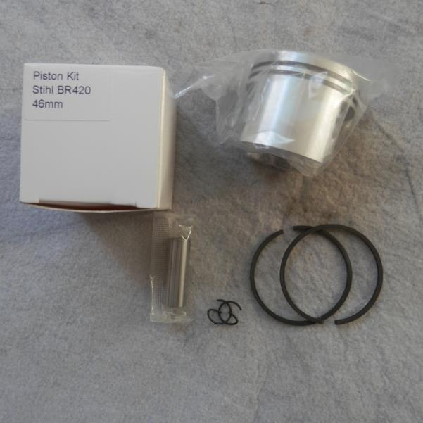 46MM BR420 PISTON KIT FOR ST. BR400 BR380 SR420 SR400 FS550 ZYLINDER ASSEMBLY BLOWER TRIMMER BRUSHCUTTER CYLINDER RING SET CLIP 44mm cylinder kit low type for husqvarna chainsaw 350 351 353 346 zylinder assy piston ring pin clips assembly