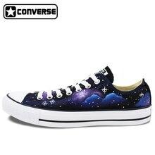 Low Top Galaxy Nebula Original Design Converse All Star font b Women b font Men Shoes