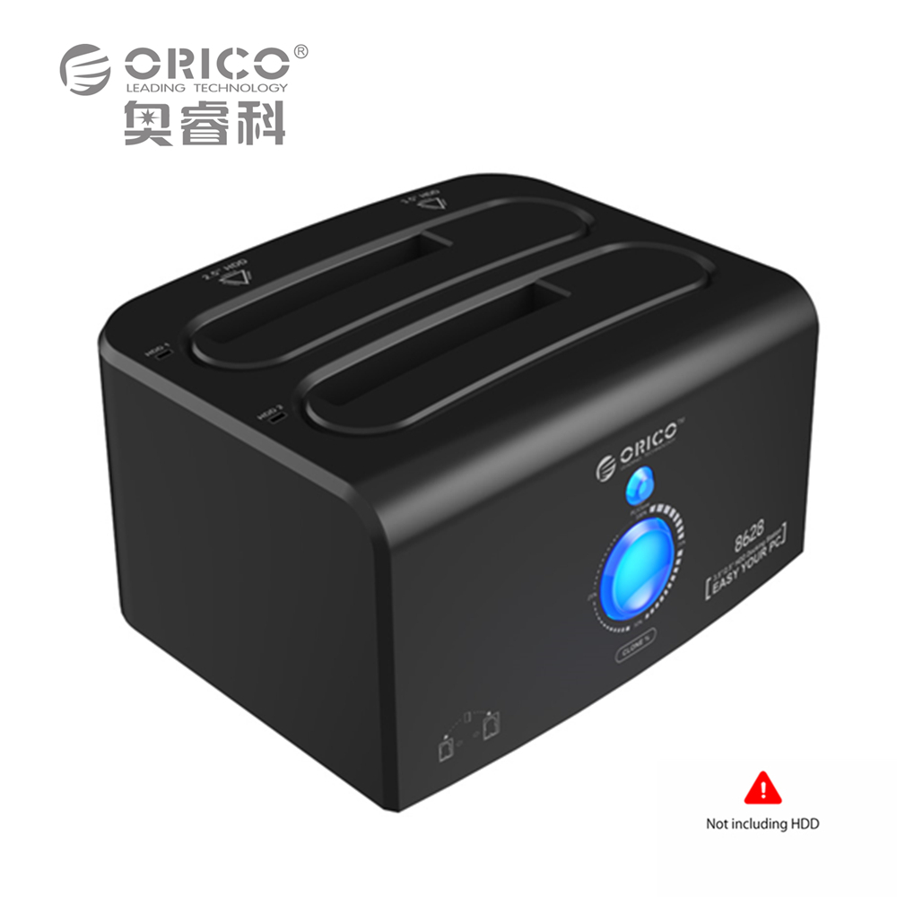 ORICO 2.5/3.5 USB3.0 SATA HDD SSD 5Gbps Hard Drive Disk Docking Station for Switch eSATA Tool Free SuperSpeed for Windows Mac 5gbps tranmitt speed 2 5 hdd sata usb 3 0 case with 256g ssd hard disk inside 256 ssd hard disk is included with locking