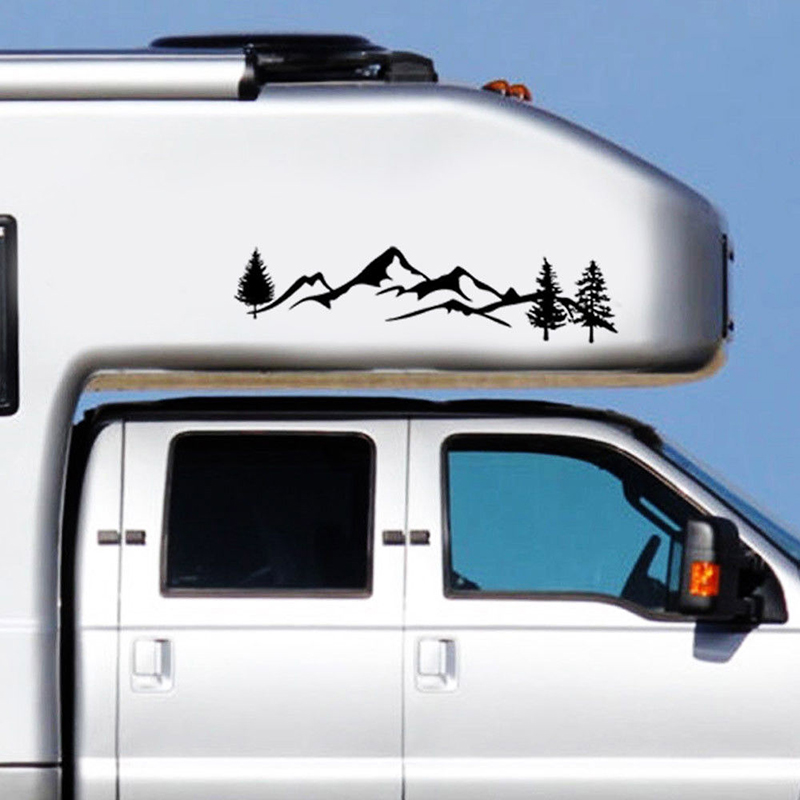 Tree Mountain Decal Scene Large Northwest 100cm Car Sticker Truck RV Offroad New