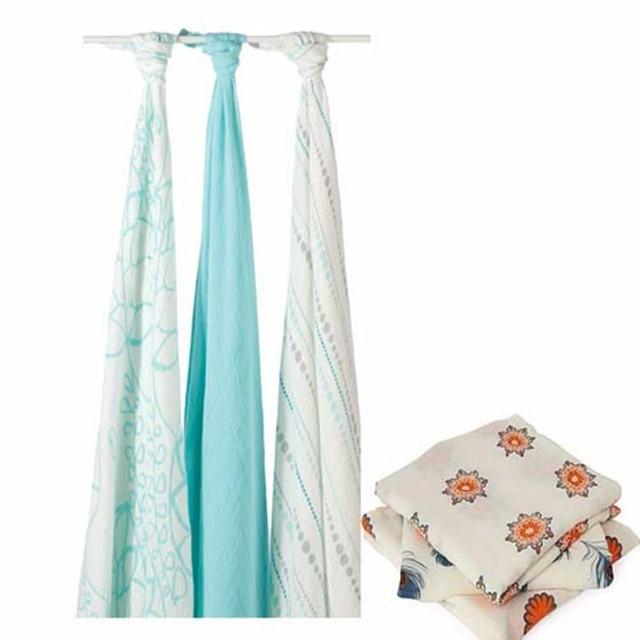 Baby Blanket Swaddle Envelope Baby Infant Aden Anais Bamboo Muslin Cotton Swaddle Newborns Bath Towel Baby Sleeping Bag Carpet