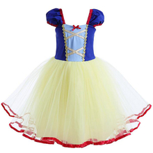 Snow White Princess Dress for kids Baby Ball Gown Tulle Dress Girls Birthday Party Princess Cosplay Costume Cute Girls Clothes girls floral flowers appliques ball gown dress children cute mesh net yarn birthday party princess dress kids dress clothes