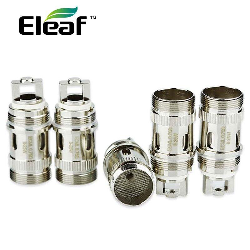 5 pz Eleaf ECML Bobina Vape per iJust S/iJust 2/iJust 2 mini/Melo/Melo 2/Melo 3/Lemo 3/Melo 3 Nano Atomizzatore Serbatoio 0.75ohm E-cig