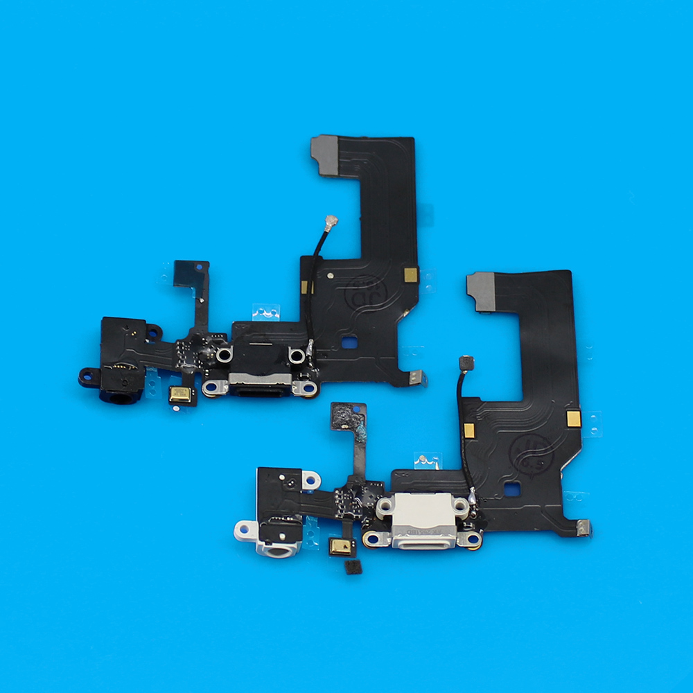 Jing Cheng Da 1PCS High Quality Black for iPhone 5 5G Charger Charging Dock Flex Cable Headphone Audio Jack Replacement