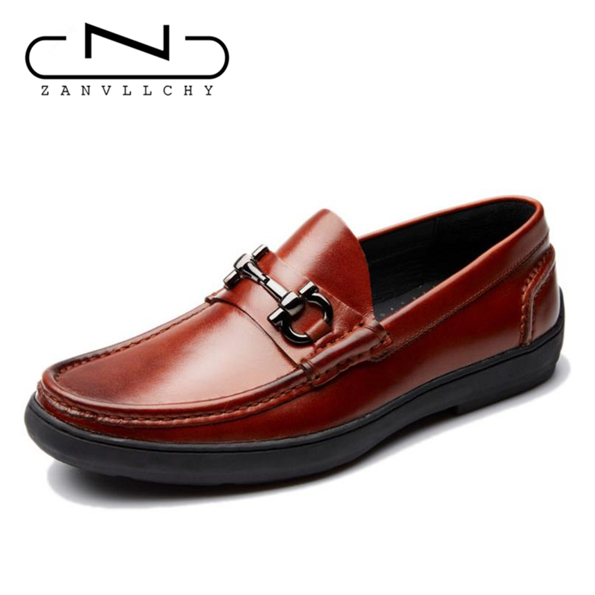 Zanvllchy 2017 New Fashion Style Men 39 S Luxury Loafers Genuine Leather Boat Shoes Men Slip On