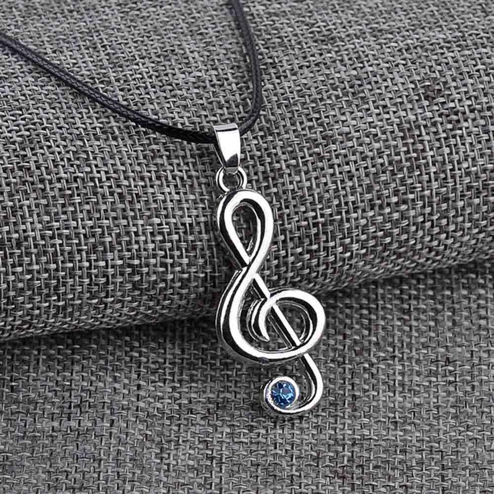 Anime Jewelry  Character Treble G Clef Music Note Pendant Necklace Rope Chain For Men Women Gift Wholesale
