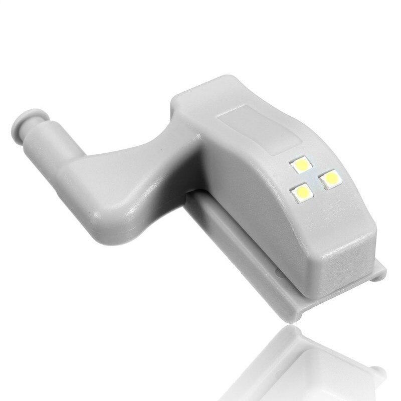 MTGATHER 10pcs Universal Cabinet Cupboard Hinge White LED Light Wardrobe System Modern Home Kitchen Lamp