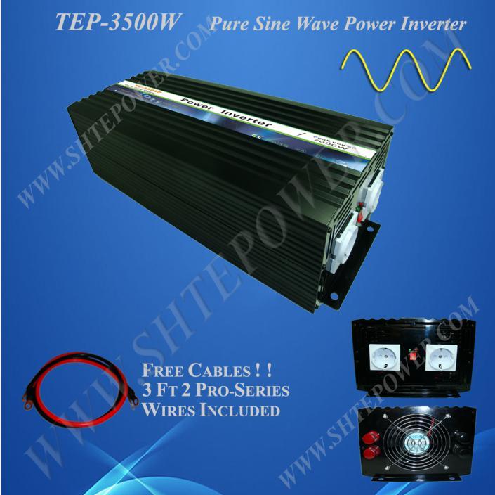 3500 W puissance onduleur CE certification, TEP-3500W DC 12 V à 110 V/220 V DC 24 V à 220 V 230 V sortie onde sinusoïdale pure convertir DC à AC