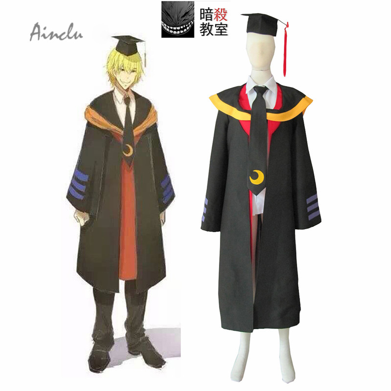 Ainclu Customize for adults  Free Shipping Assassination Classroom Class 3-E Teachers Koro-sensei Humans Cosplay Adult Costume