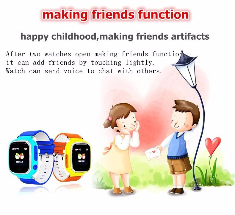 Child Smart Watch Q90 GPS LBS Positioning Children Smart Watch 1.22 Inch Touch Screen SOS Clock Tracker for Kid Safe Monitor#C1 14