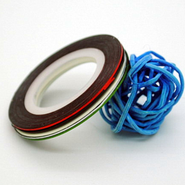 10Pcs Lot Professional Nail Art Mix Colors Rolls Striping Tape Metallic  Yarn Line Decoration Sticker 131 0006-in Stickers   Decals from Beauty    Health on ... 035cc369f04c