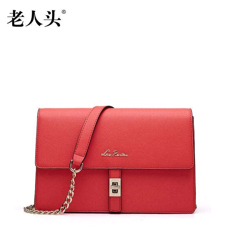 ФОТО 2017 New LAORENTOU brand  leather women bag fashion women shoulder messenger cowhide chains small bag