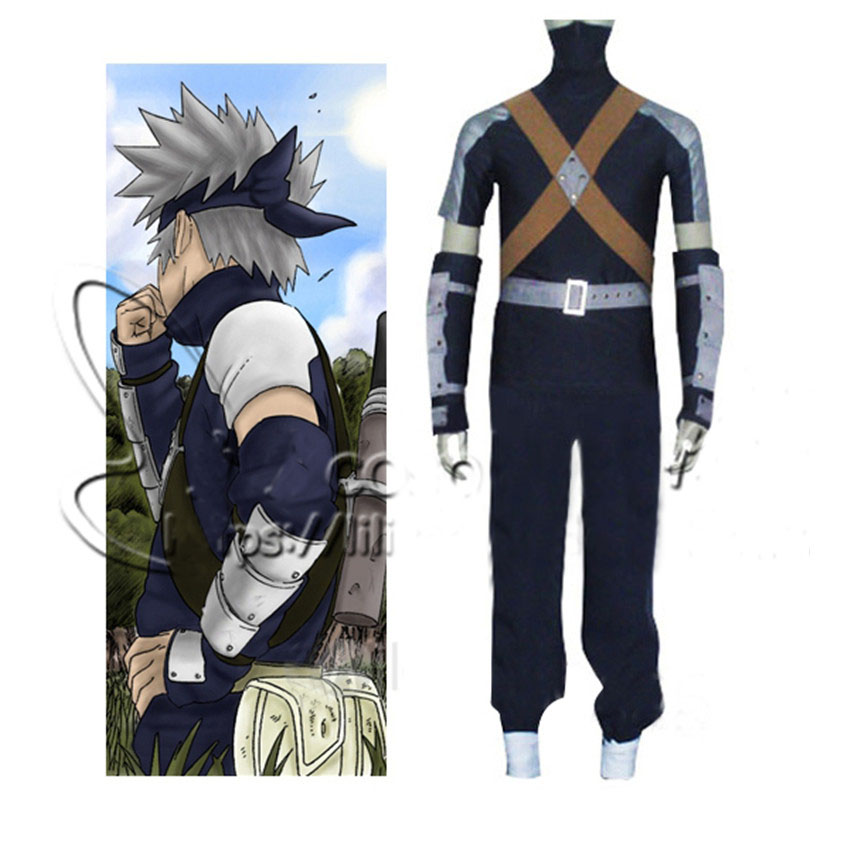 Hatake Kakashi Cosplay Clothing Japanese Anime Naruto Cosplay Costume Teenager Version