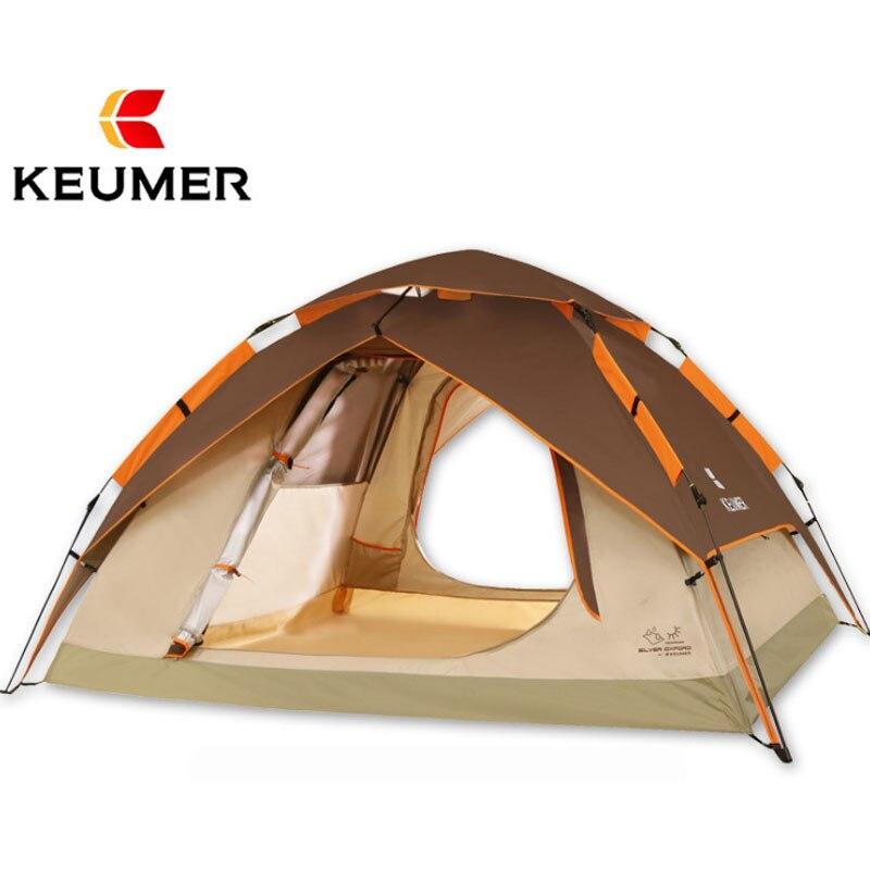 Entièrement Automatique oxford UV épaissir tissu Camping Tente Anti UV Auvent extérieur voyage famille rapide ouvert double couche tente de plage