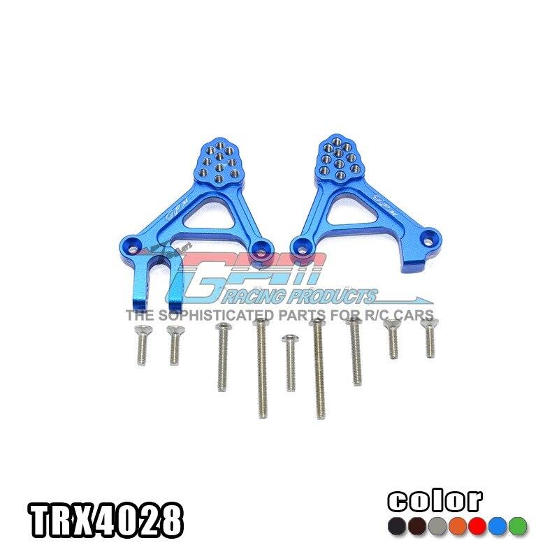 TRAXXAS TRX-4 TRX4 82056-4 Alloy adjustable front damper mount porous position shock absorber plate - set TRX4028 traxxas trx 4 trx4 82056 4 pure copper pendulum wheels knuckle axle rotary type weight 21mm hex adapter set trx4023xx