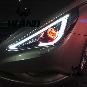 VLAND manufacturer for Car head lamp for Sonata LED Headlamps year 2011-2014 with projector lens front headlamp plug and play