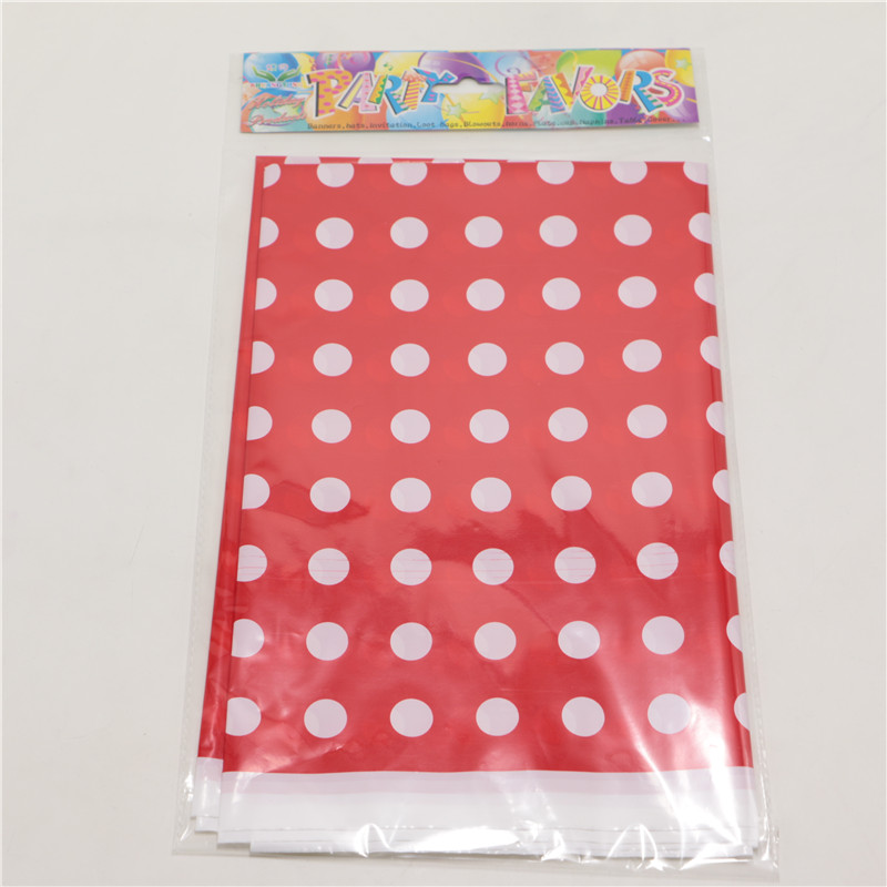 1pcs Lot Hy Birthday Party Red Polka Dots Theme Kids Favors Tablecover Baby Shower Tablecloth Events Decoration Supplies In Disposable Tableware