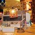 FREE SHIPPING wedding hand-beaded lamp simple European rural retro iron bedside lamp bedroom dresser