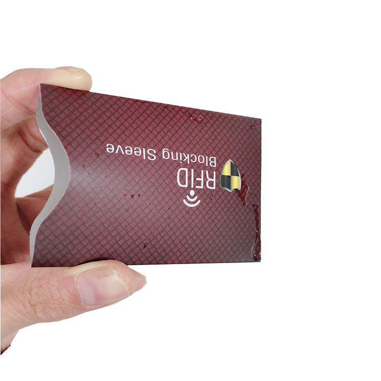 5 Pcs Anti-RFID Scanning Sleeve Credit RFID Card Protector Anti-magnetic Aluminum Foil Portable  Card Holder  Waterproof