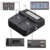Lvsun teléfono + aa + cámara universal del coche/ac cargador blm1 blm-1 blm para olympus c-5060 c-7070 c-8080 e-30 e-300 e-330 e-500 e-510 e-52
