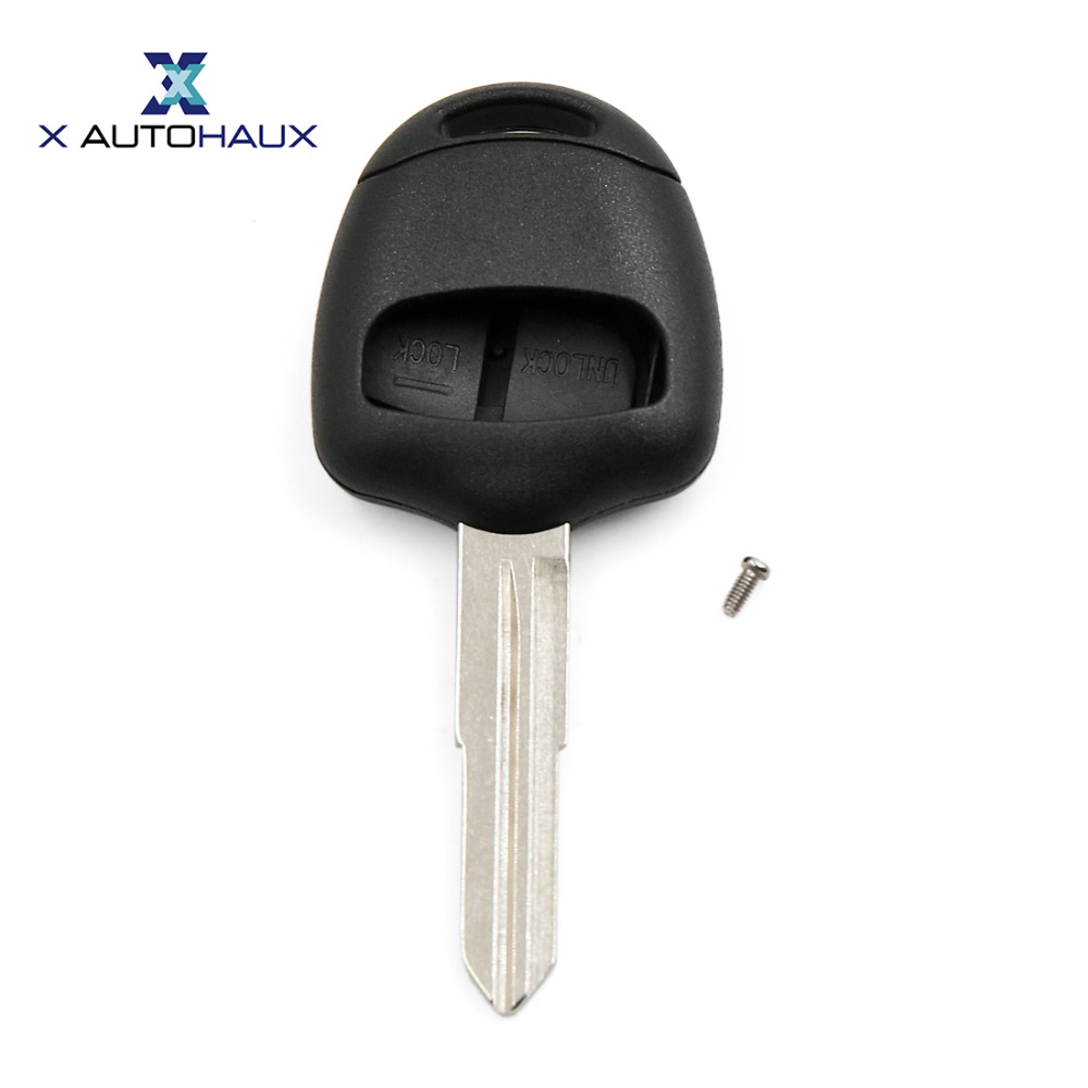 X AUTOHAUX 2 Buttons Uncut <font><b>Key</b></font> Remote Shell <font><b>Replacement</b></font> For <font><b>Mitsubishi</b></font> Galant <font><b>L200</b></font> Outlander Lancer Colt Shogun image