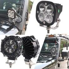 3Inch LED Vỏ Quả Ánh Sáng Điểm Tia Combo Xà Đơn LED Offroad Ánh Sáng Cho Xe SUV ATV Xe UTV 4WD Thuyền Mềm Xe Ô Tô xe Tải Đầu Kéo Xe Bán Tải