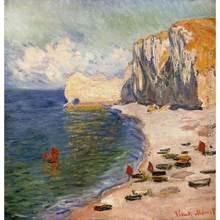 Peintures à l'huile sur toile, la plage et la Falaise, peint à la main