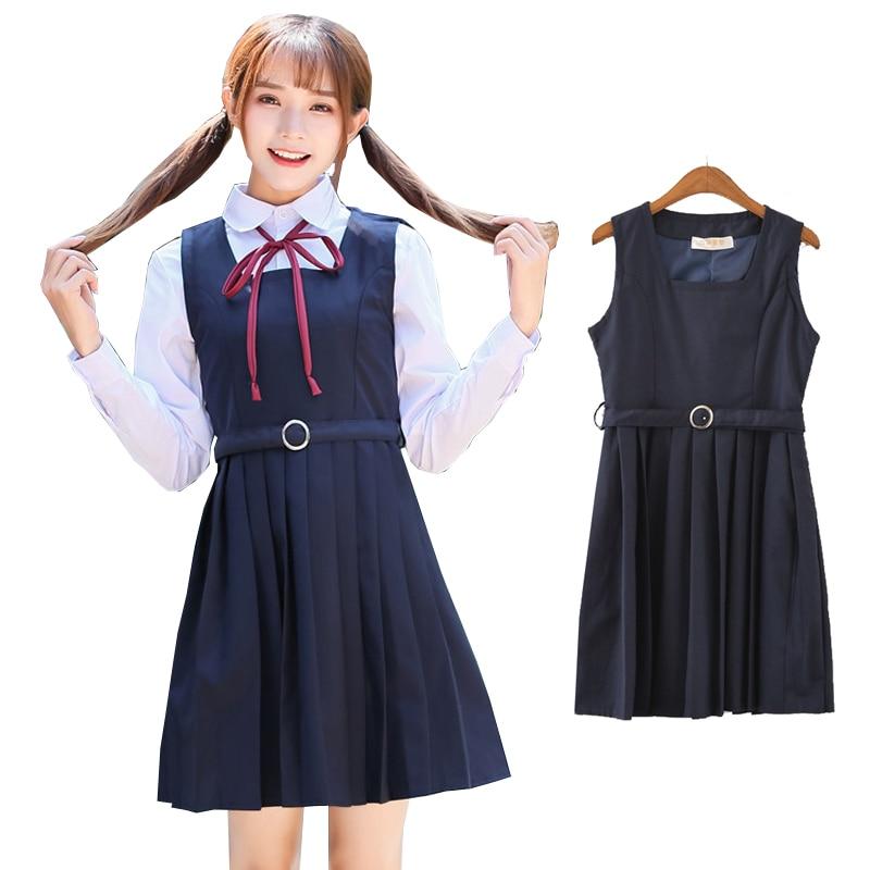Japanese School Uniform Dress Jk Lolita Girls Pleated -3856