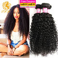 8A Brazilian Virgin Hair Kinky Curly High Quality Human Hair Extensions Brazilian Curly Virgin Hair 3 Bundles Rosa Hair Products