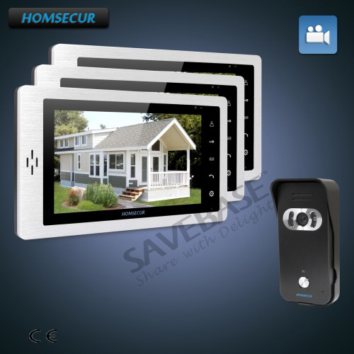 HOMSECUR Hand-Free 7 Video Door Entry Security Intercom+Intra-monitor Audio Intercom 1C3MHOMSECUR Hand-Free 7 Video Door Entry Security Intercom+Intra-monitor Audio Intercom 1C3M