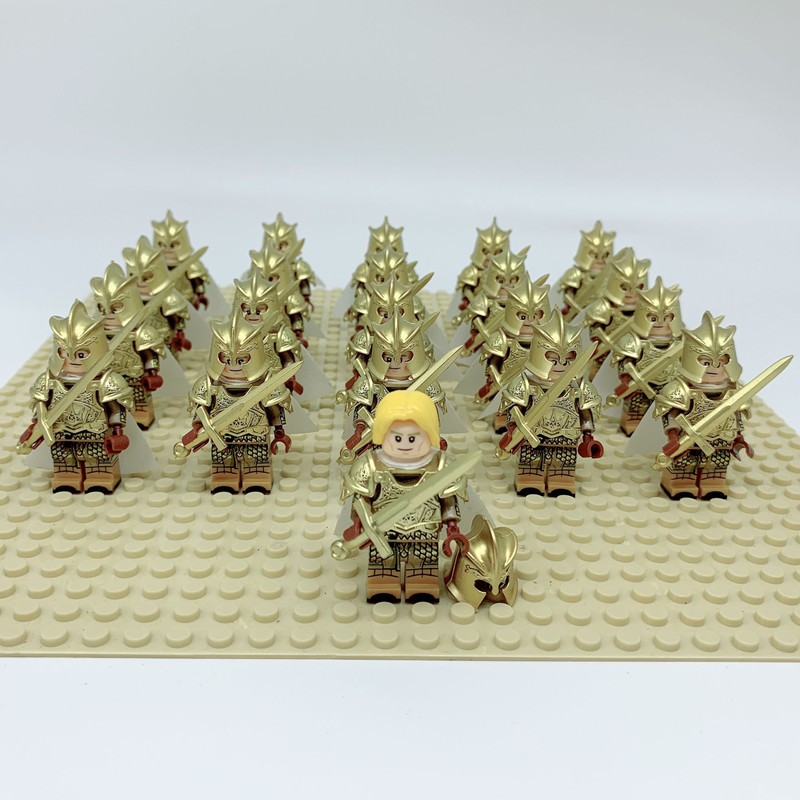 21PCS Game of Thrones Kingsguard Action Figure Medieval Knight Soldiers Army Infantry Building Blocks Toys for Children