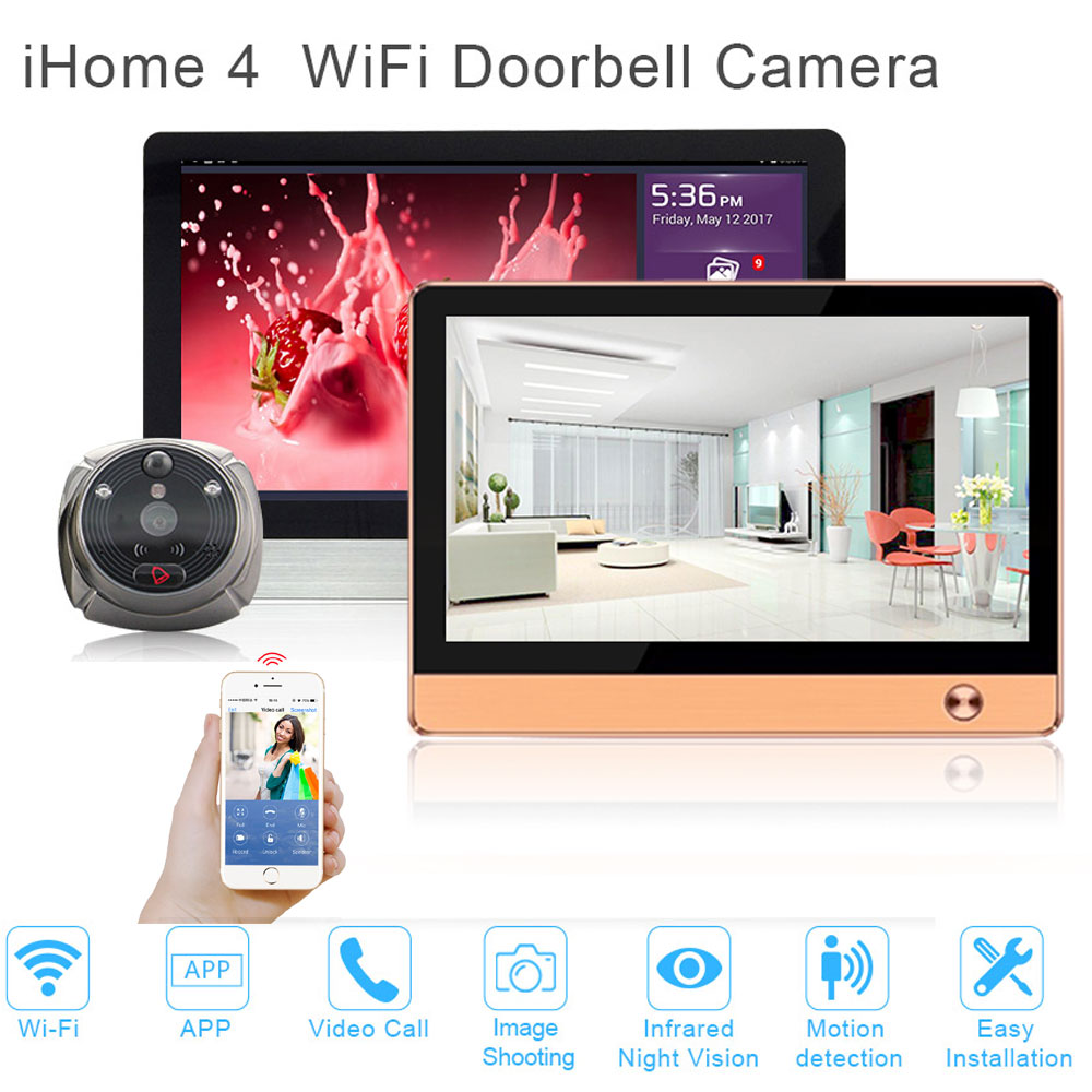 Upgraded Smart home security system WiFi Doorbell Camera WIFI video intercom door phone front door security