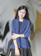 The side of the edge of the fashion show thin short jacket blouse pleated blouse free shipping