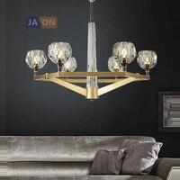 Işıklar ve Aydınlatma'ten Kolye ışıkları'de G9 led Postmodern Bakır Kristal Altın Temizle LED Lamba led ışık. kolye Işıkları. kolye Lamba. kolye ışık Fuaye Yemek Odası Için
