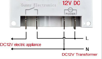 wholesale dc 12v 16a lcd digital power programmable timer switch time relay  with 4pcs 15cm (5 9