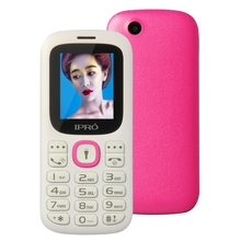 Original IPRO I3185 Unlocked Mobile Phone GSM SC6531DA 1.77 Inch Dual SIM Bluetooth Cell Phones with English Spanish Russian
