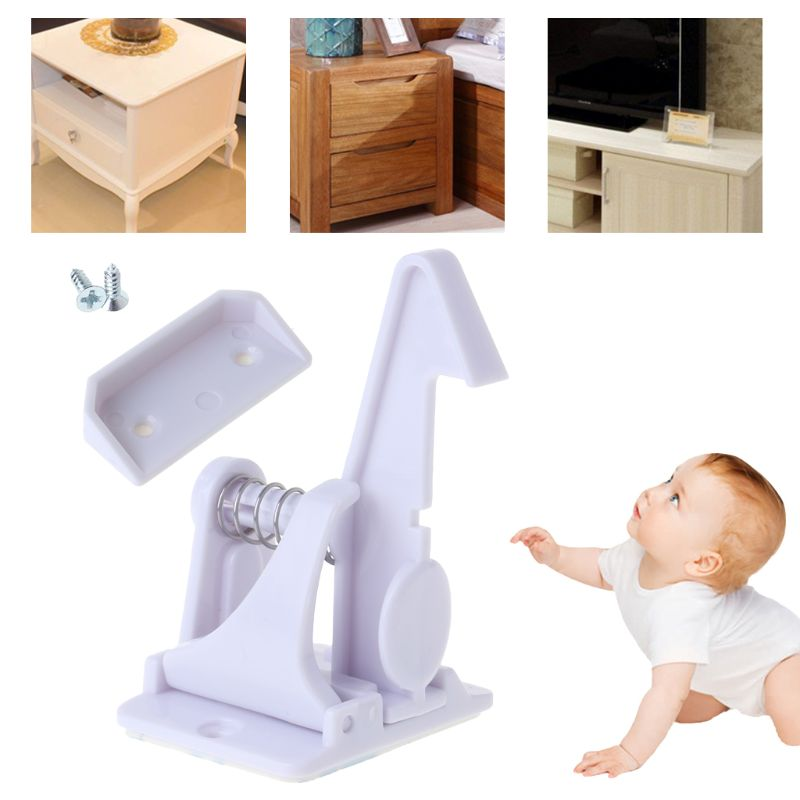 Safety Lock Baby Protection Drawer Cabinet Door Spring Security Invisible Child