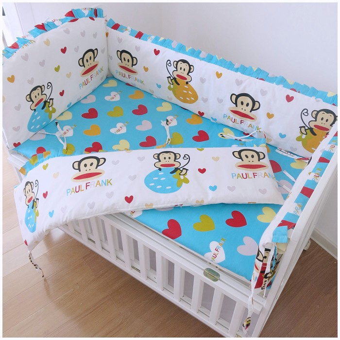 Promotion! 6pcs baby crib bedding set cot bed Bumper Sheet (bumpers+sheet+pillow cover) promotion 6pcs cartoon baby bedding set cotton crib bumper baby cot sets baby bed bumper include bumpers sheet pillow cover