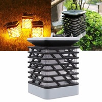IKVVT New Solar LED Candle Flame Effect Light Flickering Flame Lamp Simulated Ornament