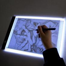 """""""Ultra-Thin A4"""" LED šviesos tapyba Kopijavimo plokštė """"Kids Drawing"""" """"Tracing"""" lentos piešimo lenta """"Animation Tracing Pad"""" Tabletės vaikas žaislas"""