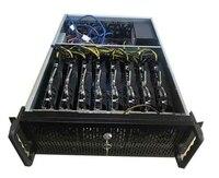 Crypto aluminum mining rig case USB miner BTC ETH Mmcion ATX chassiss Rack 19 housing Sever box 8 graphics card gtx1080 1080ti