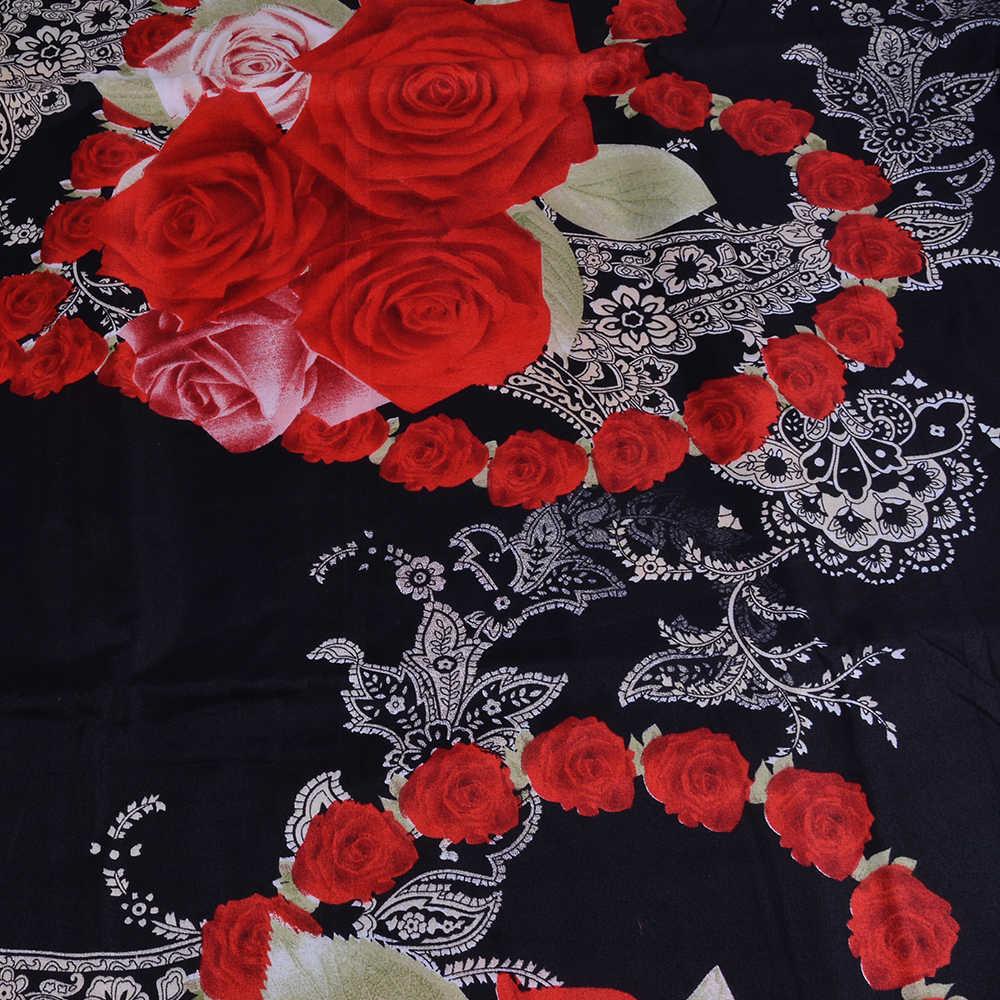 Urijk 3/4PCS עלה הדפסת סט מצעים יוקרה פרח ציפית מצעי מיטה שמיכה כיסוי מצעים חדר קישוט בית טקסטיל