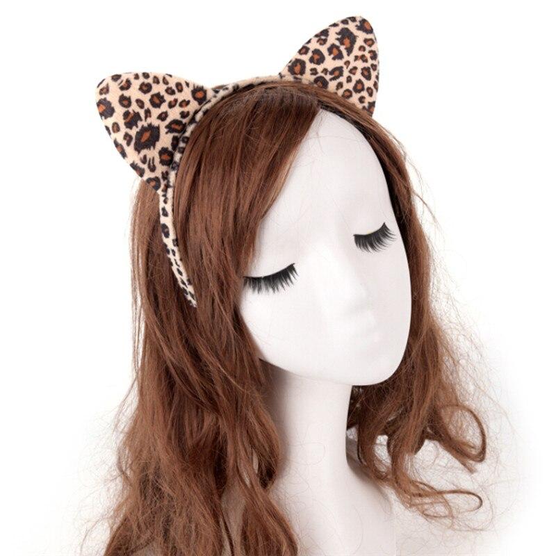 100% True New Leopard Plush Headband Cute Cat Ear Hair Acce For Women Girls Headwear Fashion Easter Dance Party Fantastic Hairband Women's Hair Accessories