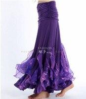 4 unids/lote ventas al por mayor sexy Belly profesional traje de la danza de la falda de la sirena bailando falda 9 colores opcionales