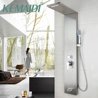 KEMAIDI Shower Panel New Shower column Solid Brass Bathroom Rainfall Shower Head W/Hand Sprayer Faucet Shower Set Faucets