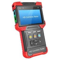 جهاز اختبار كاميرا 4 بوصة عالي الدقة CCTV مراقب IP TVI AHD CVBS مختبر كاميرا 1080P ONVIF RJ45 TDR POE مخرج 12 فولت