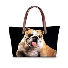 Women Shoulder Bags Bulldog Pug Akita Husky Women's Casual Bags