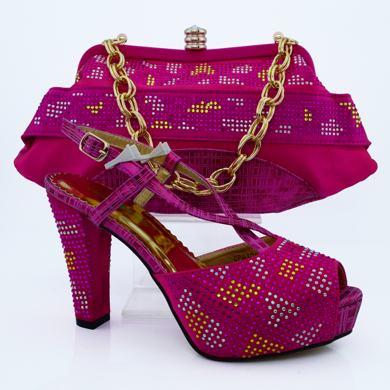 2016 Latest African Matching Shoes And Bag Set Free Shipping Italian Matching Shoe And Bag Size 38-42 fuchsia HVB1-66 весна милана 5 со звуком в2203 о